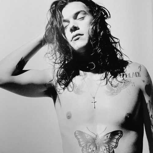 Harry Styles wallpaper probably containing a hunk and skin called Harry for Another Man Magazine