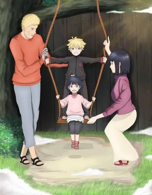 Hinata Hyuga and NARUTO -ナルト- Uzumaki family