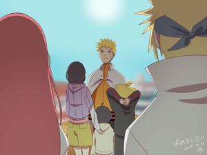 Hinata Hyuga and Naruto Uzumaki family