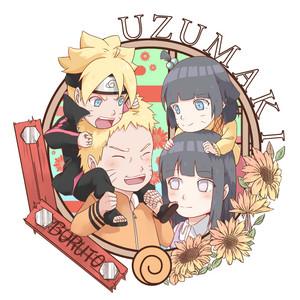 Hinata Hyuga and Наруто Uzumaki family