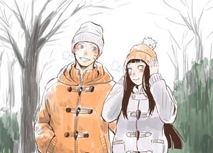 Hinata Hyuga and NARUTO -ナルト- Uzumaki
