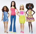 I amor the new barbie body types! Go Barbie!