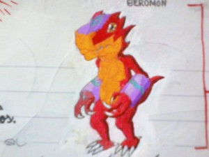 "Imagen de Beromon ""ベロモン"" (digimon de Takumi Shirou, tamer líder en Digimon 03 Twice ""デジ"