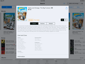 It official King and princess are in movie por their voice actors in iTunes