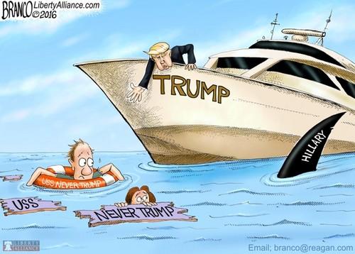 U.S. Republican Party Hintergrund called It's Trump oder Be hai Chow
