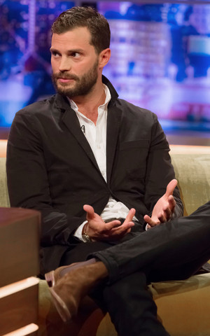 Jamie Dornan attends The Jonathan Ross Show on September, 24