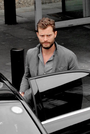 Jamie arriving at Dublin Airport in Dublin, Ireland On September, 19