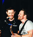 Jensen and Rob Benedict - jensen-ackles photo