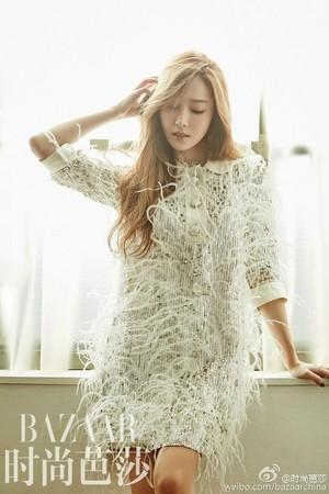 Jessica is a pure goddess in Harper's Bazaar
