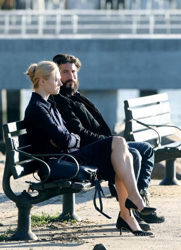 The Punisher - Netflix 바탕화면 with a park bench titled Jon and Deborah - 방탄소년단