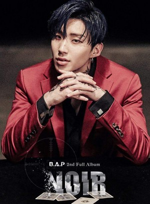 Jongup's teaser image for 2nd full album 'NOIR'