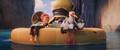 Junior and Tulip on raft - childhood-animated-movie-heroines photo