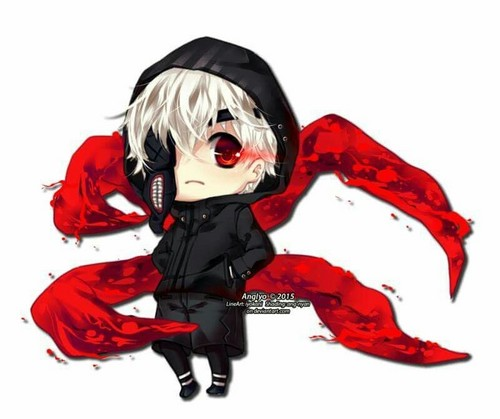 Tokyo Ghoul karatasi la kupamba ukuta possibly containing anime entitled Kaneki Chibi