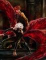 Kaneki protecting Hide - anime fan art