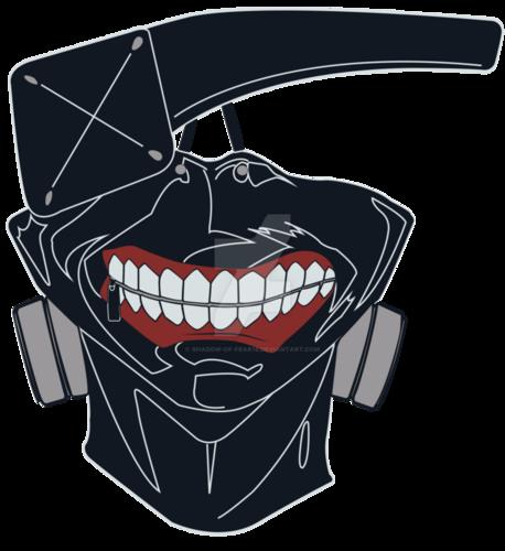 Tokyo Ghoul karatasi la kupamba ukuta entitled Kaneki's mask