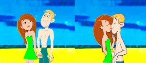 Kim Possible and Ron Stoppable Summer pantai Time kertas dinding