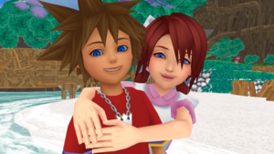 Kingdom Hearts Final Mix SoKai Day. Sora x Kairi.