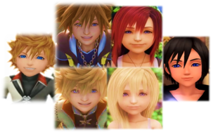 Kingdom Hearts Sora  Kairi  Roxas  Namine  Xion  and Ventus.