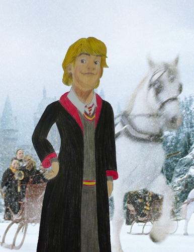 Childhood Animated Movie Characters wallpaper possibly containing an outerwear, a box coat, and a well dressed person called Kristoff in Gryffindor