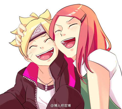 Kushina Uzumaki wallpaper with anime titled Kushina Uzumaki and Boruto Uzumaki