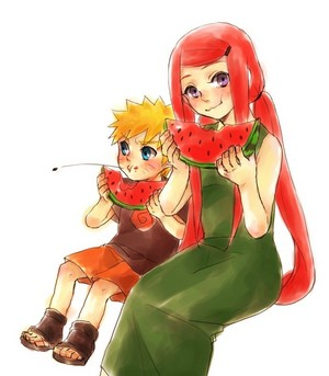 Kushina Uzumaki and Naruto Uzumaki
