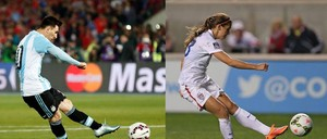 Lionel Messi - Alex morgan