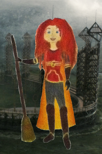 Childhood Animated Movie Characters fond d'écran possibly with a tabard, a surcoat, and a sign titled Merida in Gryffindor