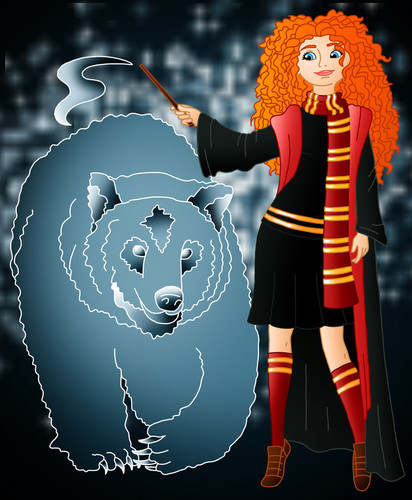 Childhood Animated Movie Characters 壁纸 titled Merida in Hogwarts