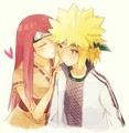 Minato Namikaze and Kushina Uzumaki