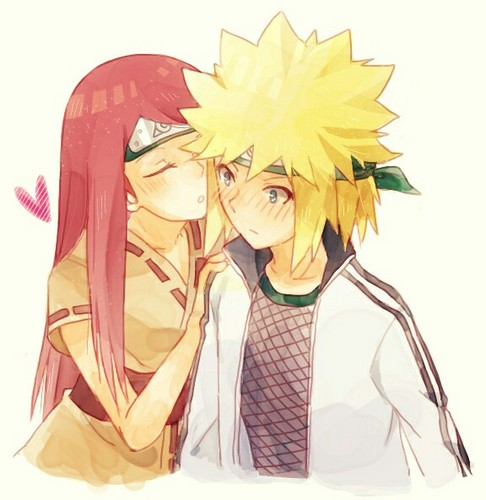 Minato Namikaze Hintergrund possibly containing a bouquet titled Minato Namikaze and Kushina Uzumaki