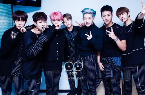 Monsta X wallpaper probably with a well dressed person called Monsta x💋 ❤