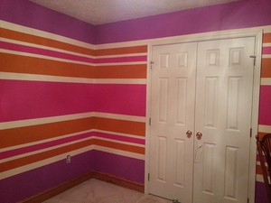 My Bedroom aka super colorful - How I painted My Bedroom.
