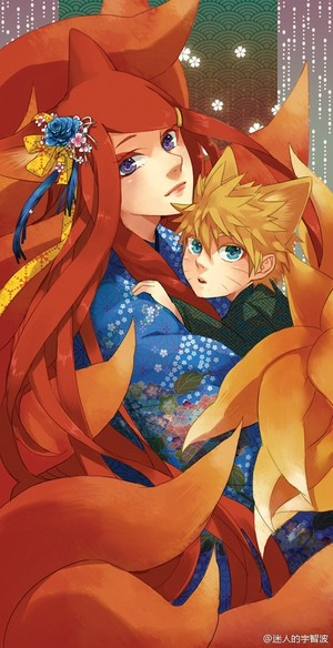 Naruto and his mom