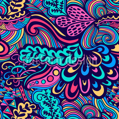 Fine Art Hintergrund possibly with a paisley titled Neon Fantasies