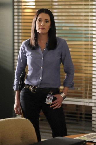 Paget Brewster wallpaper probably containing a well dressed person, a living room, and a business suit called Paget Brewster as Emily Prentiss- Criminal Minds Season 12