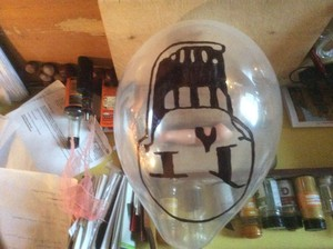 Papyrus balloon for Halloween.