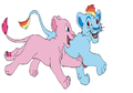Pinkie and Rainbow Dash as lions - my-little-pony-friendship-is-magic photo