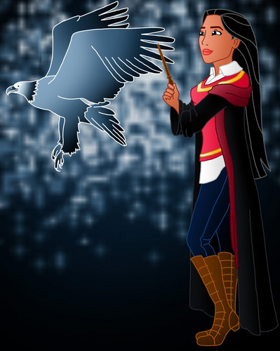 Childhood Animated Movie Characters fond d'écran entitled Pocahontas in Hogwarts
