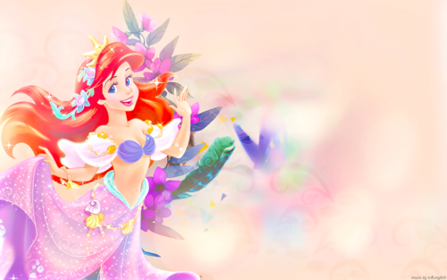Disney-Prinzessin Hintergrund with a bouquet entitled Princess Ariel