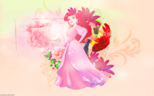 Disney Princess karatasi la kupamba ukuta with a bouquet titled Princess Ariel