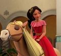 Princess Elena rides on Canela - disney-princess photo