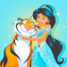Princess Jasmine and Rajah