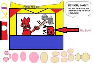 パンチ and Judy 表示する - パンチ defeats The Devil