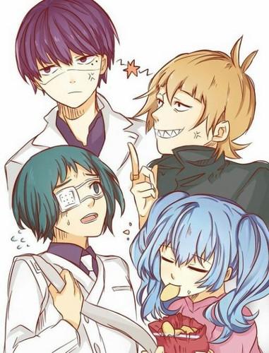 Tokyo Ghoul karatasi la kupamba ukuta with anime called Quinx Squad