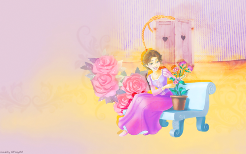Disney Princess karatasi la kupamba ukuta entitled Rapunzel