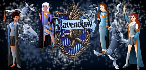 Childhood Animated Movie Characters wallpaper entitled Ravenclaw Princesses