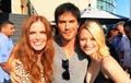 Rebecca, Ian and Emilie - ian-somerhalder photo