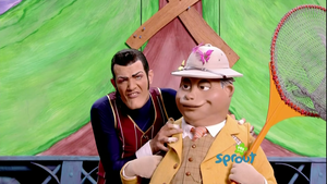 Robbie Rotten and Mayor Meanswell