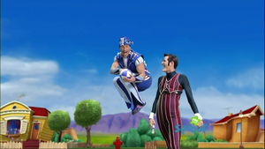 Robbie Rotten and Sportacus