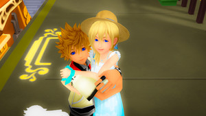 Roxas and Namine Sunset Station amor edited